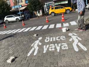 """Hozat Belediyesinden """"Önce Yaya """" uygulaması"""
