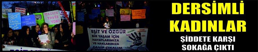 Dersimli kadınlar şiddete karşı sokağa çıktı