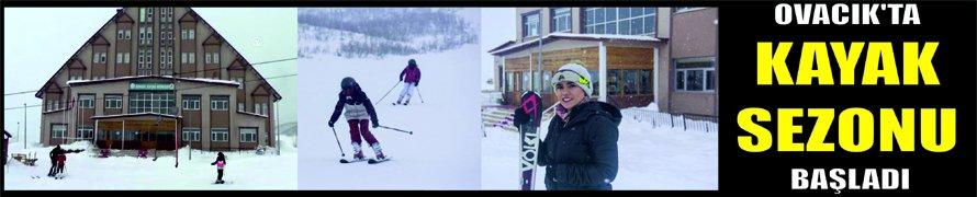 Ovacık'ta kayak sezonu başladı