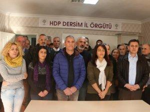 HDP Dersim İl Örgütü, İstanbul saldırısını kınadı