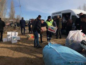 Belediyeden depremzedelere yardım