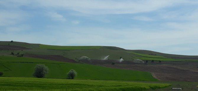34 bin 310 dekar tarım arazisi sulanmaya başladı