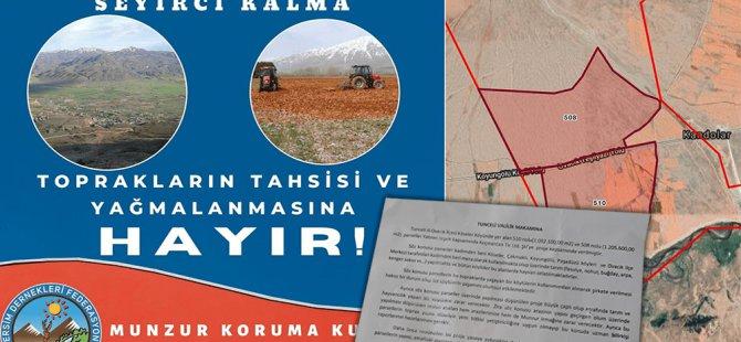 Munzur Koruma Kurulu'ndan toprak tahsisine tepki