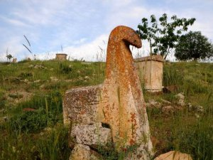 Asırlık mezarlara defineciler zarar verdi