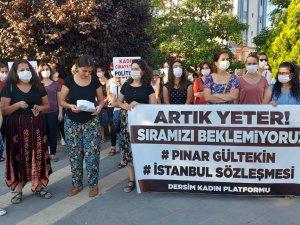 Kadın Platformu, Pınar Gültekin'in öldürülmesini protesto etti