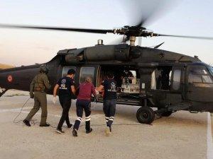 5'inci kattan düşen Aras için askeri helikopter havalandı