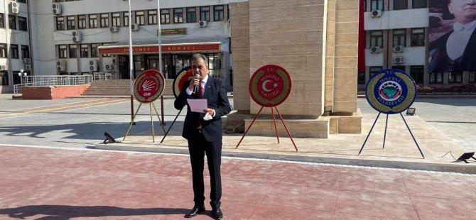 CHP İl Başkanı Çelik'ten Cumhuriyet Bayramı açıklaması