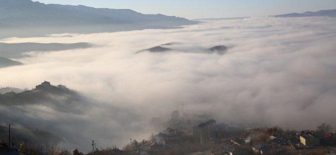 Dersim'de sis denizi! Şehir kayboldu