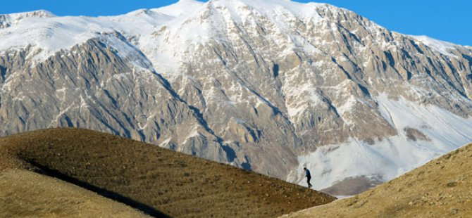 Munzur ve Mercan dağlarında kış güzelliği