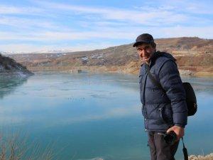 Baraj gölü dondu