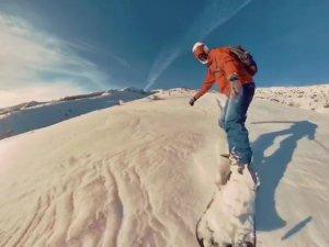 Pülümür dağlarında kayak keyfi