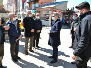 Vali Özkan, Covid-19 denetimlerine katıldı