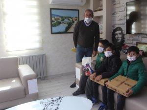 Başkan Maçoğlu'ndan duyarlı çocuklara teşekkür