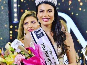 Dersimli Duygu Çakmak 'Miss Europe 2021'de üçüncü oldu