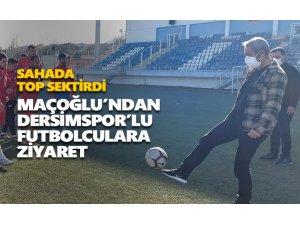 Maçoğlu'ndan Dersimspor'lu futbolculara ziyaret