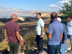 Çemişgezek'te yangın: 300 ton saman kül oldu
