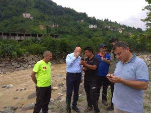 AFAD Tunceli ekibi, Rize'de çalışmalarını sürdürüyor