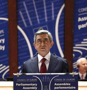 Sarkisyan, AKPM'de konuştu
