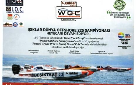 Dünya Offshore Şampiyonası Tunceli'de yapılacak