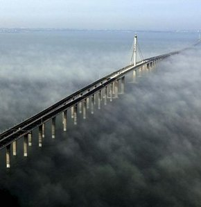 Dünyanın en uzun köprüsü trafiğe açıldı - GALERİ
