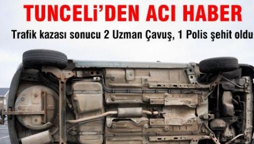 Ovacık'ta Trafik Kazası: 3 Ölü