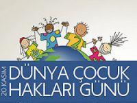 Halk Sağlığı Müdürlüğünden Dünya Çocuk Hakları Günü açıklaması