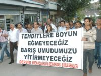 Tunceli'de 4 kişinin gözaltına alınması protesto edildi