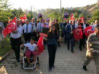 """Dersim'de  """"teröre lanet yürüyüşü"""" düzenlendi"""