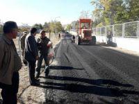 Hozat'ta asfaltlama çalışması