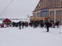 Ovacık ilçesinde kayak keyfi VİDEO HABER