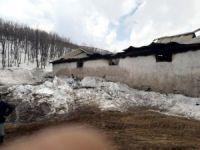 Ovacık'ta ahır yangını: 17 hayvan telef oldu