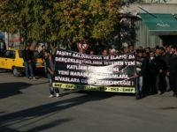 Elazığ'daki olaylar Tunceli'de yürüyüşlü protesto edildi