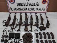 Pülümür operasyonunda silah ve mühimmat ele geçirildi