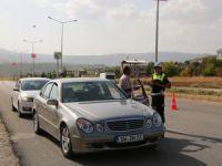 Tunceli'de drone'lu trafik kontrolü