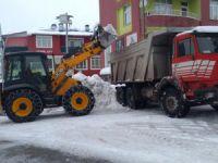 Hozat'ta kar temizleme çalışması