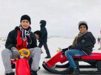 Engelli çocukların kayak keyfi
