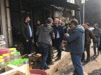 Başkan Maçoğlu esnafları ziyaret etti