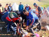 Ekipler yaralı çoban için seferber oldu