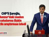 Milletvekili Şaroğlu, maden sahalarına ilişkin Meclis araştırması istedi