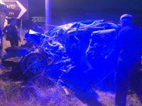 Dersim'de feci kaza: 4 ölü,1 yaralı VİDEO HABER