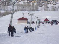 Kayak merkezinde yarıyıl tatili yoğunluğu