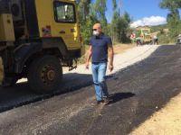 Köy yollarında asfaltlama çalışmaları sürüyor