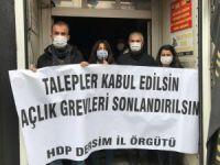 HDP Dersim İl Örgütü: Tutukluların talepleri karşılansın
