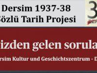 Dersim 1937 - 38 Sözlü Tarih Projesi Komitesi'nden açıklama