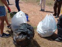 Çevreciler hem halay çekti hem de çöp topladı VİDEO