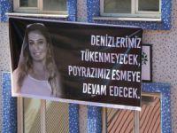 HDP Dersim İl Örgütü, Deniz Poyraz için pankart astı