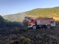 Ormanlık alana sıçrayan yangın büyümeden söndürüldü