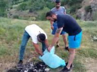 Erzincan ve Dersimli arkadaş grubu Pülümür Vadisinde çöp topladı
