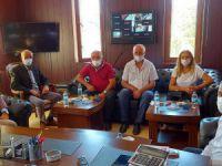 Kaymakam Aydoğan'dan belediyeye ziyaret