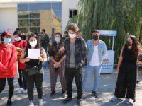 Munzur Üniversitesi öğrencileri rektörlüğe yürüdü